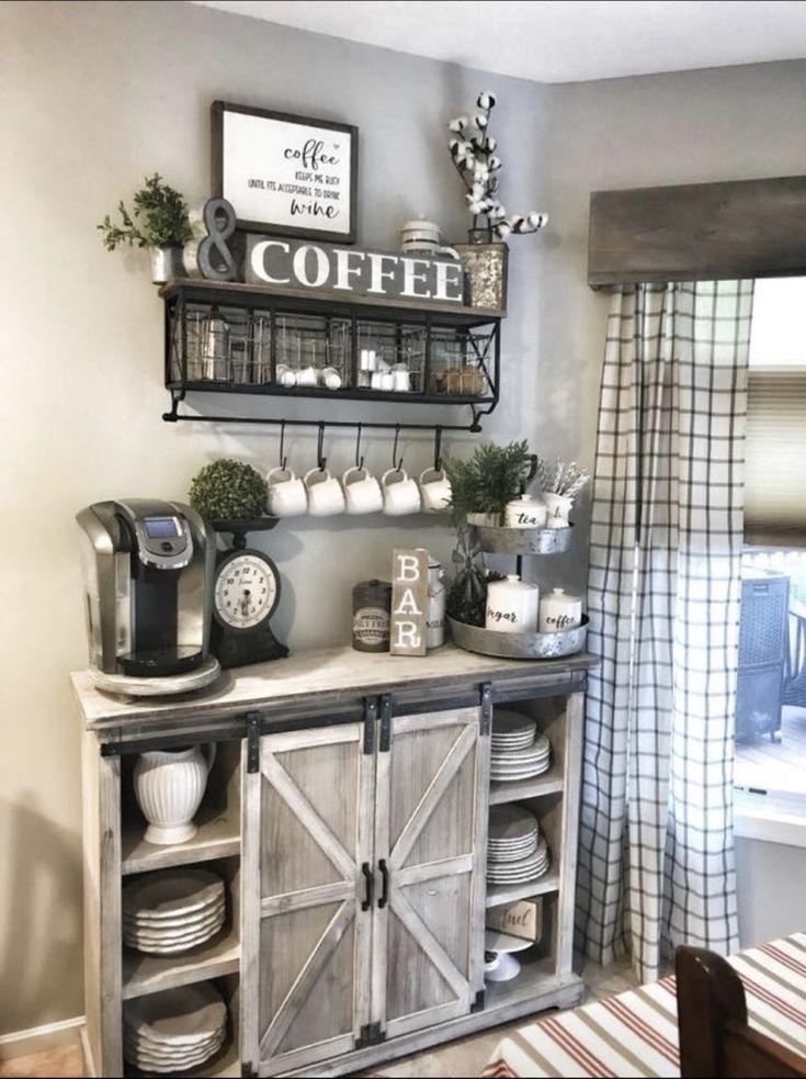 Like coffee bar idea Coffee bar home, Farm house living