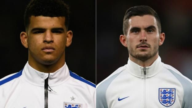 England v Brazil: Dominic Solanke, Lewis Cook and Angus Gunn called up for friendly  ||  Liverpool's Dominic Solanke, Bournemouth's Lewis Cook and Manchester City's Angus Gunn are called up by England for Brazil friendly. http://www.bbc.co.uk/sport/football/41950285