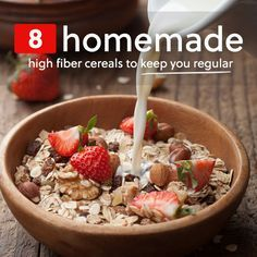 These homemade high fiber cereals are delicious and will help keep you…