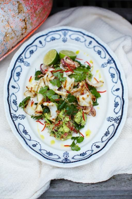 chargrilled squid with rustic guacamole | Jamie Oliver | Food | Jamie Oliver (UK)
