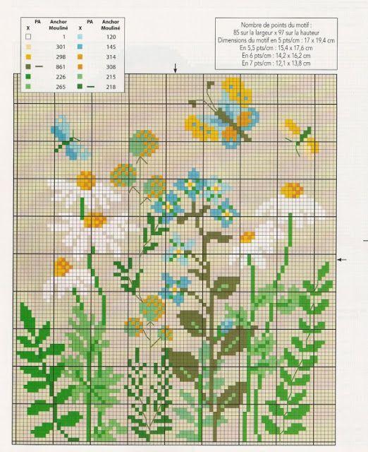 Αγριολούλουδα για κέντημα / Cross stitch wild flower patterns