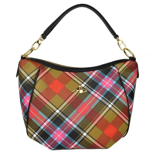 Vivienne Westwood Shoulder Tartan Hobo Bags Sale