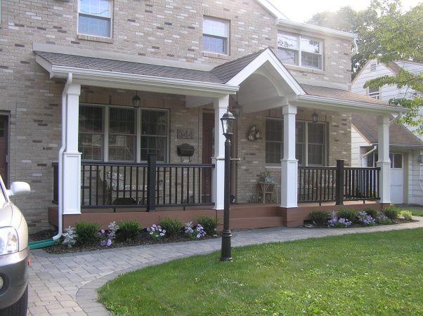 Front Porch Love The Black Railing Dream Home