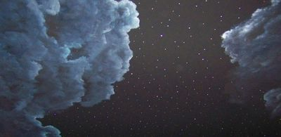 Crystal stars in the night sky ceiling concepts for our - Night sky painting on ceiling ...