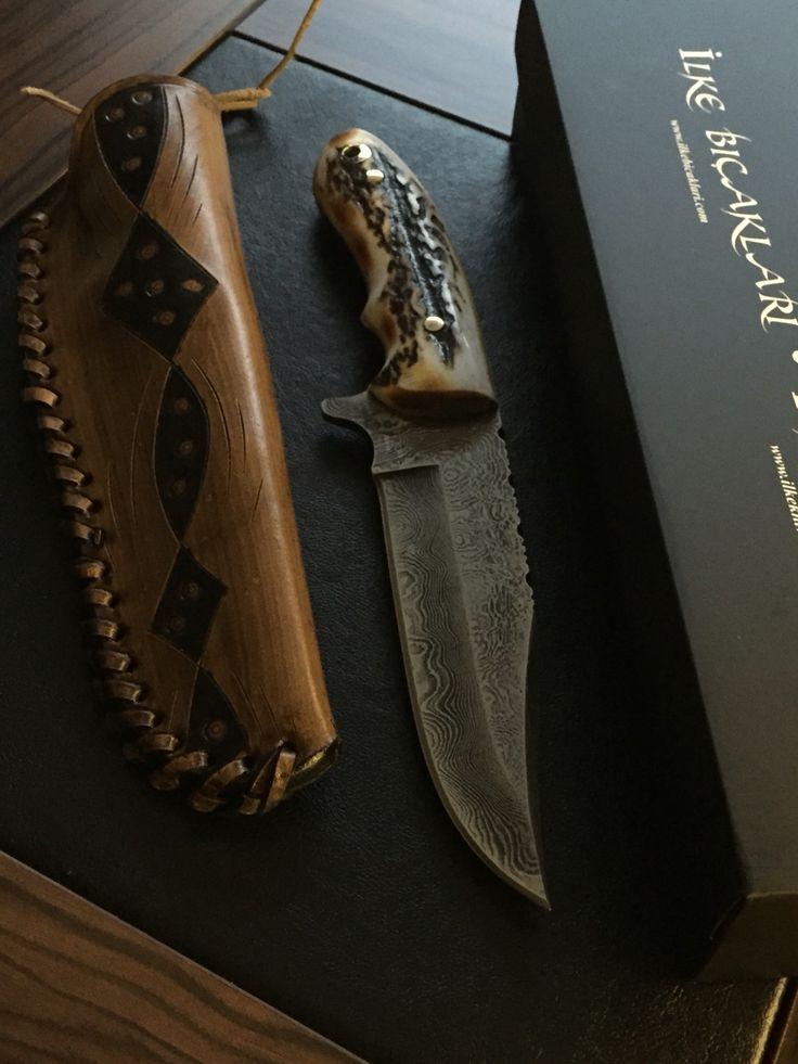 İlke Knives İlke Bıçakları 1003L-dgb Türk Damascus