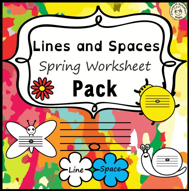 This set of 20 spring themed worksheets is designed to help your students practice identifying whether a pitch is on a line or in a space and practice high/low pitches. All activities require no preparation.#elmused  #music #musicworksheets #musiceducation # linespace #highlow #notenaming #AMStudio