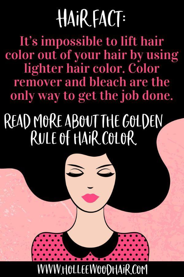 Die goldene Regel zum Heben der Haarfarbe: Farbe hebt die Farbe nicht an