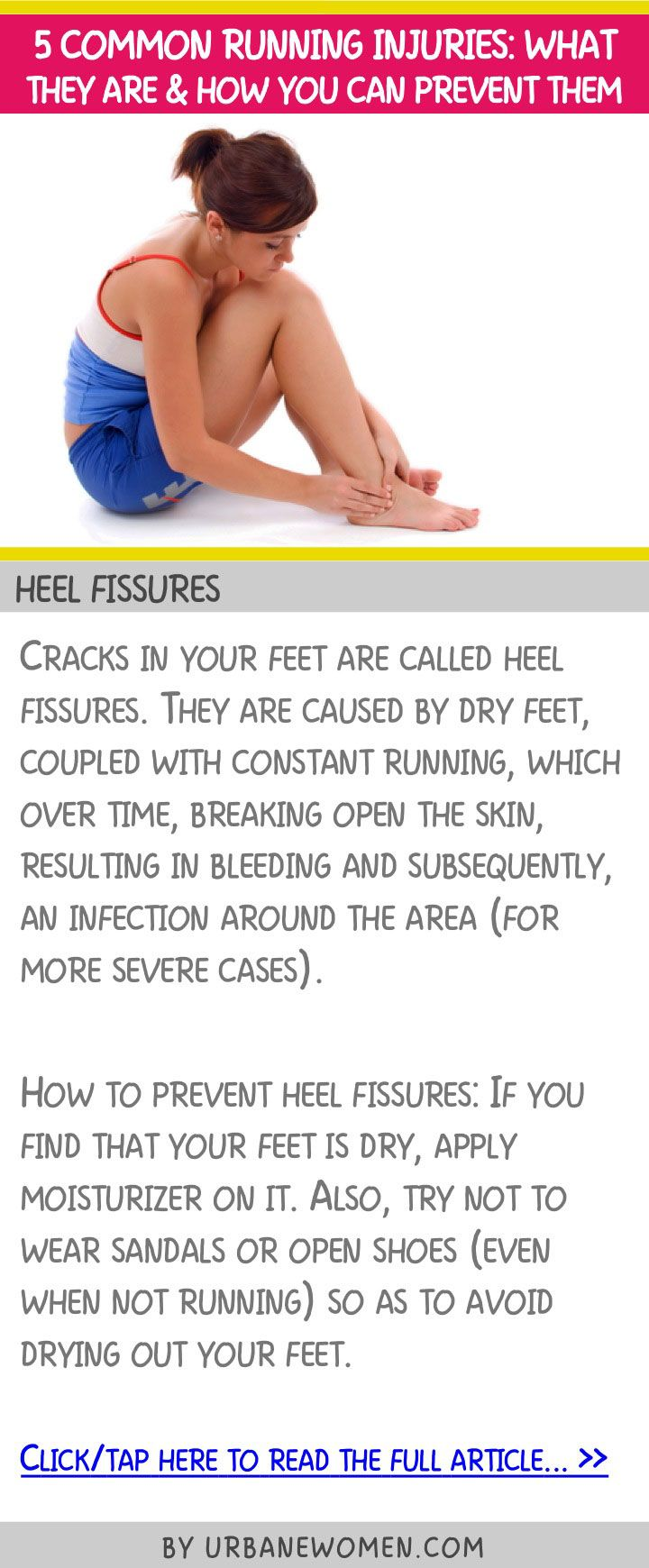 5 common running injuries: What they are and how you can prevent them - Heel fissures
