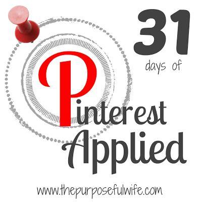 Pinterest Applied -  a #31Days series by @Rachel O'Neill