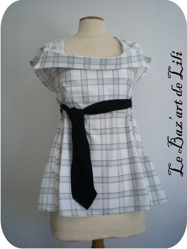 Recyclage chemise d'homme ©le baz'art de Lili