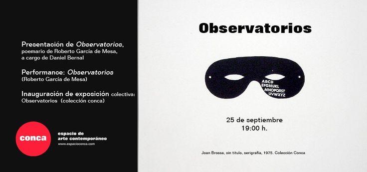 Colaboramos esta noche con la performance 'Observatorios' dentro de la presentación del poemario homónimo de Roberto García de Mesa. En Conca Espacio de Arte Contemporáneo (La Laguna, Tenerife).