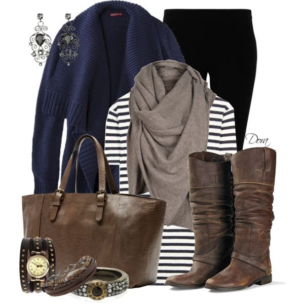 """Cardigan blu"" by doradabrowska on Polyvore"