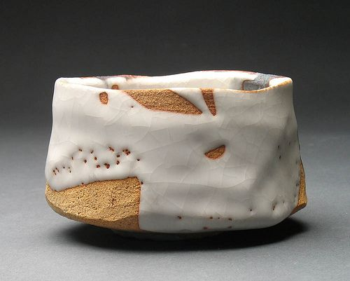 Shino - Kurojino Chawan - like the naked clay showing through it (try latex on black mountain)