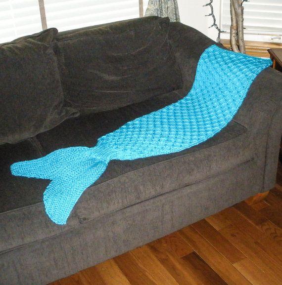 Adult Mermaid Tail Blanket Knitting Pattern Pdf 415a