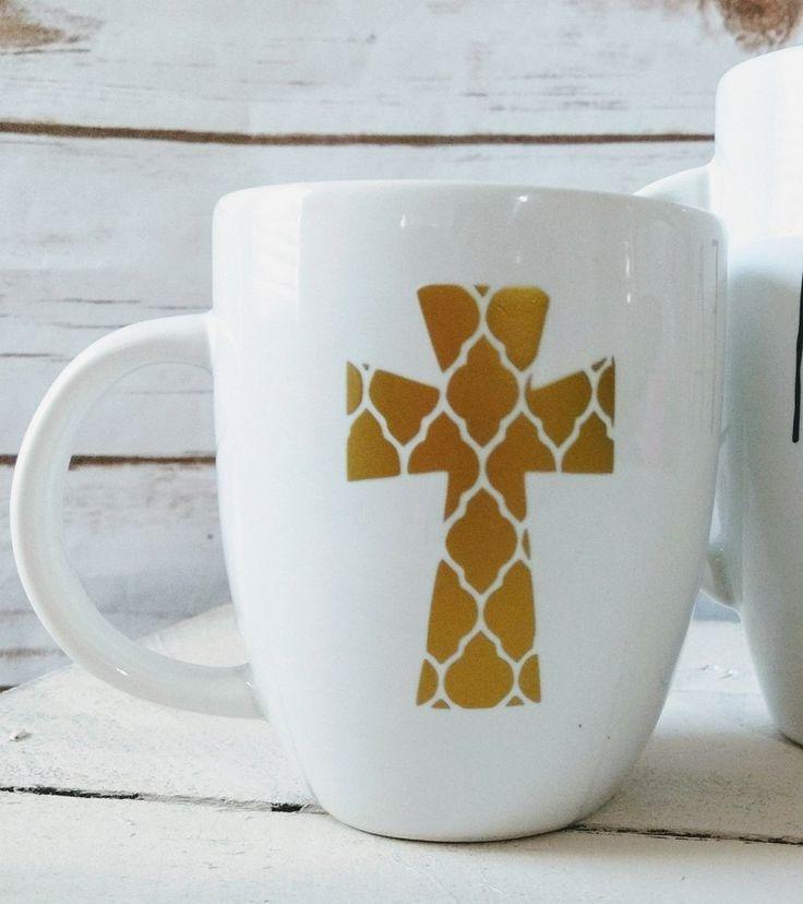 15oz Trellis Cross Mug