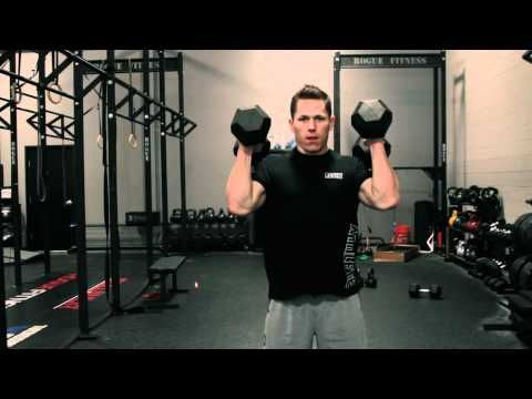 ▶ Movement Demo - Dumbbell Hang Power Clean And Press (Push Press/Push Jerk) - YouTube