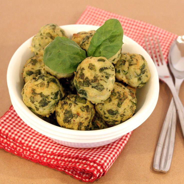 Paleo Spinach & Roasted Garlic Turkey Meatballs from http://j3nn.net