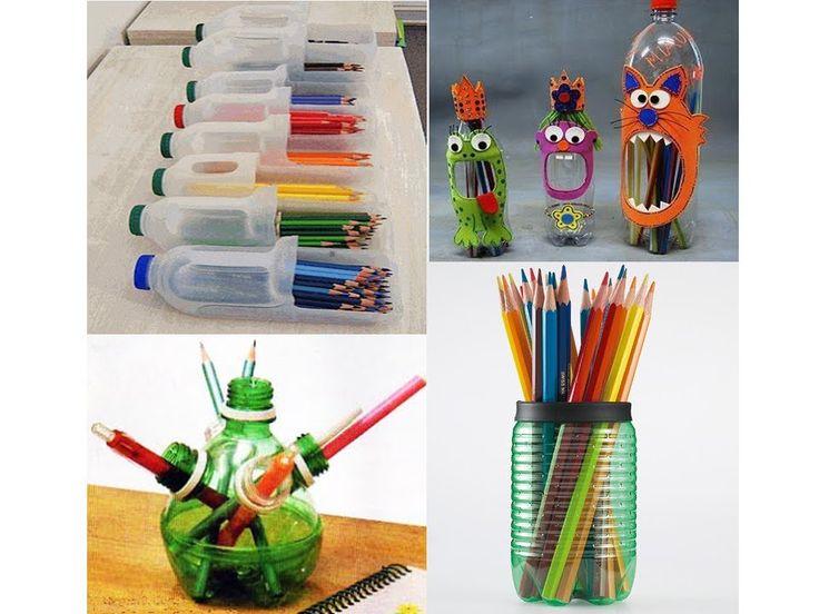 Etapa del comienzo del realismo: 9 a 12 años Manualidades con materiales reciclables (botellas)
