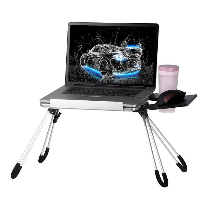 Portable Laptop Table Notebook Stand Tray Adjustable Bed Table