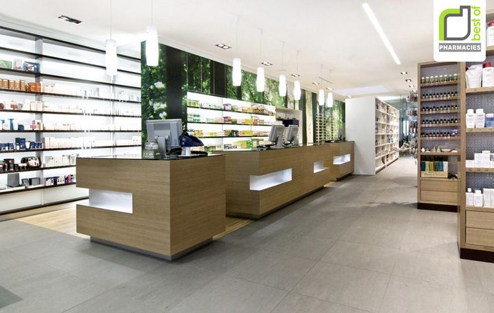 Maria Schutz pharmacy by steininger designers: aww these counter units are just fab with a simple detail. It makes all the difference