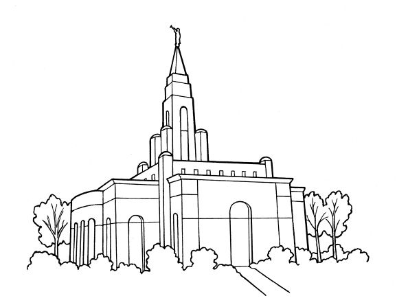 LDS Temple Coloring Page