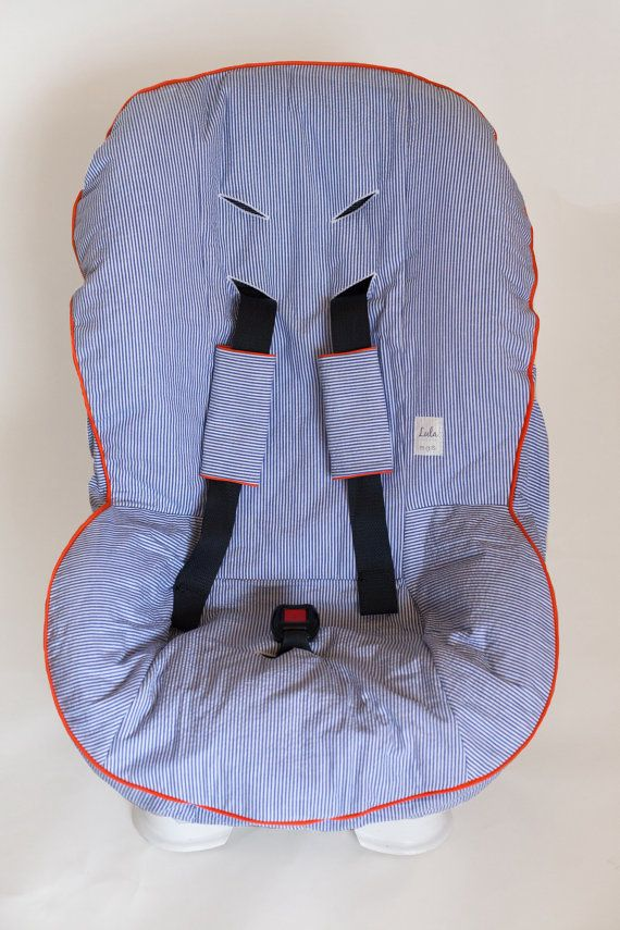 Custom Car Seat Cover with Matching Buckle Covers by MyLulaMae