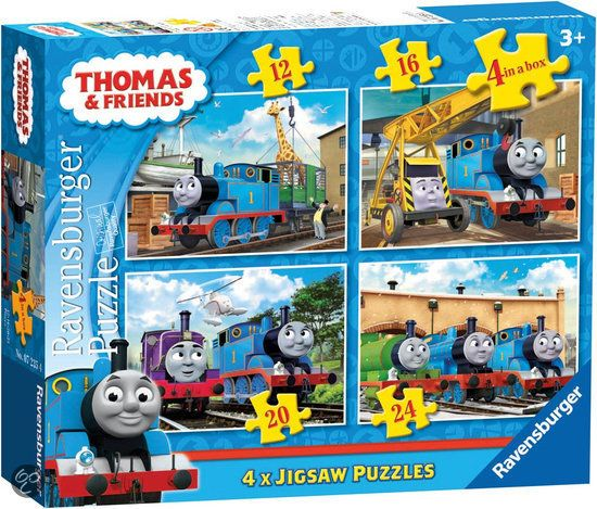 Ravensburger 4 in 1 Puzzel - Thomas en zijn Vriendjes
