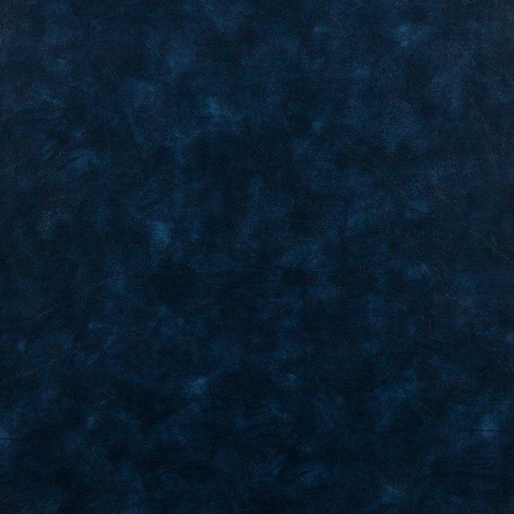 Indigo+Blue+Solid+Leather+Hide+Grain+Indoor+Outdoor+Vinyl+Upholstery+Fabric