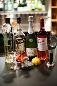"""Ingredients for housemade cocktail """"Summer's Last Fling"""""""