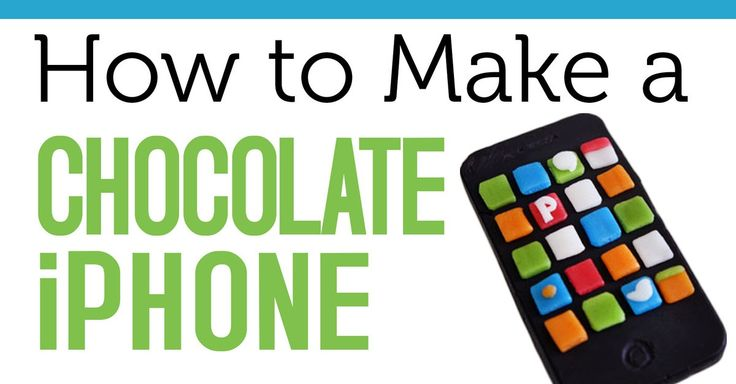 This recipe walks you through how to create an iPhone clone from chocolate melts and airheads.