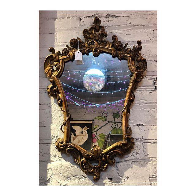 "Antique Mirror // 28"" tall X 19"" wide"
