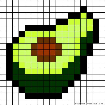 Avocado perler bead pattern