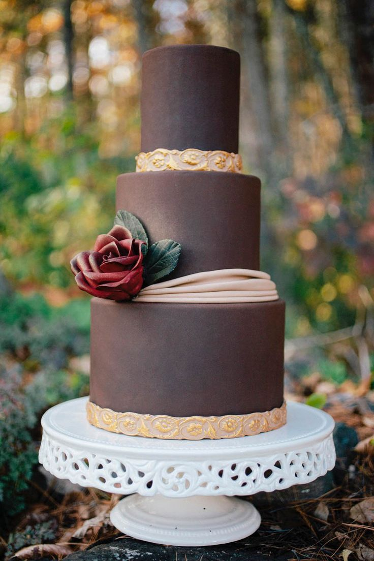 Chocolate Fondant Recipe Wedding Cake | Erin Gardner | Craftsy