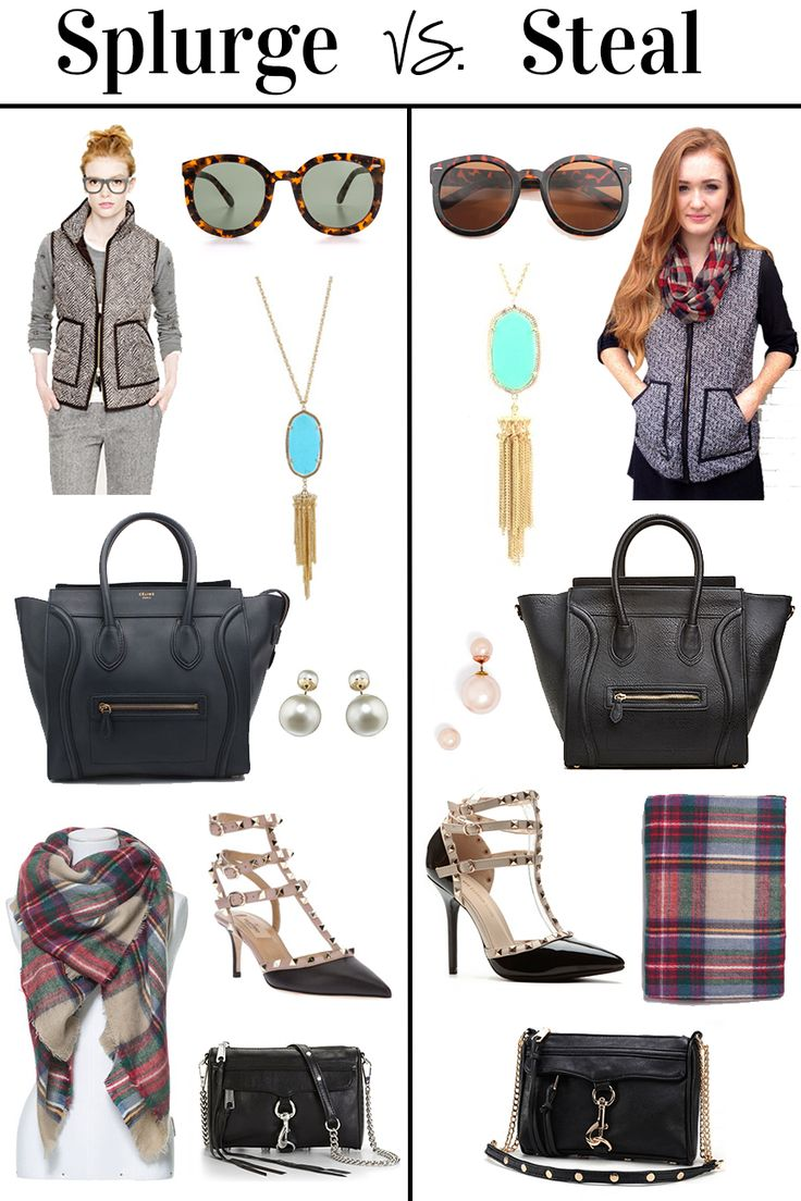 Splurge vs Steal: Fall Edition feat. J. Crew Herringbone Vest, Zara Blanket Scarf, Kendra Scott Necklace, Mise En Dior Earrings