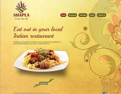 "Check out new work on my @Behance portfolio: ""Indian Restaurent in UK"" http://on.be.net/1SBG69N"