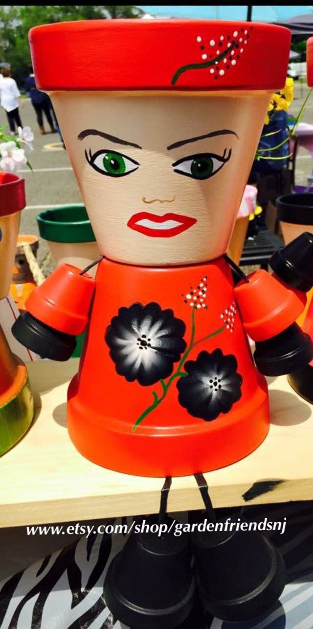 91 best Kreatívne images on Pinterest | Clay pot people, Decorated ...