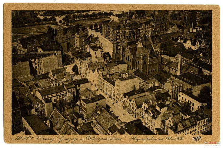 Wielka Synagoga , Gdańsk - 1929 rok, stare zdjęcia