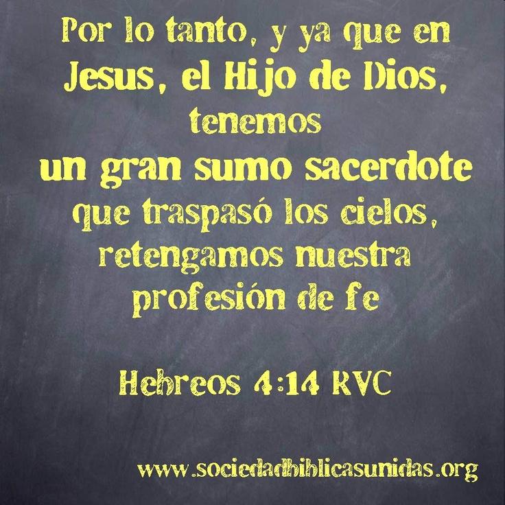 Hebreos 4:14 Reina Valera Contemporánea