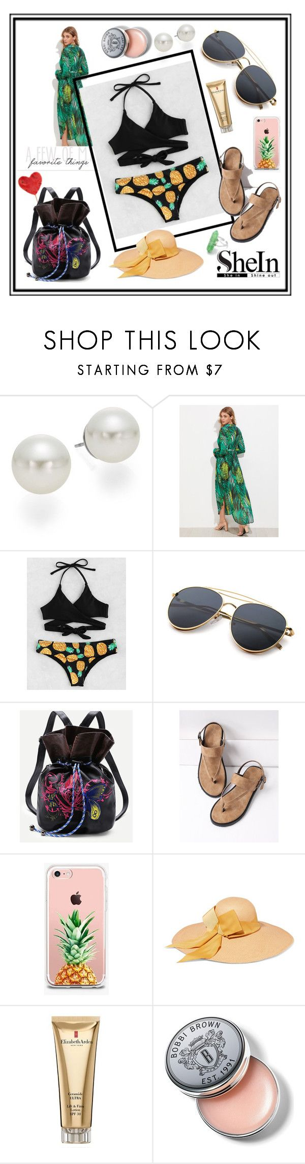 """Pineapple Wrap Bikini Set"" by edin-levic ❤ liked on Polyvore featuring AK Anne Klein, The Casery, Sensi Studio, Elizabeth Arden and Bobbi Brown Cosmetics"