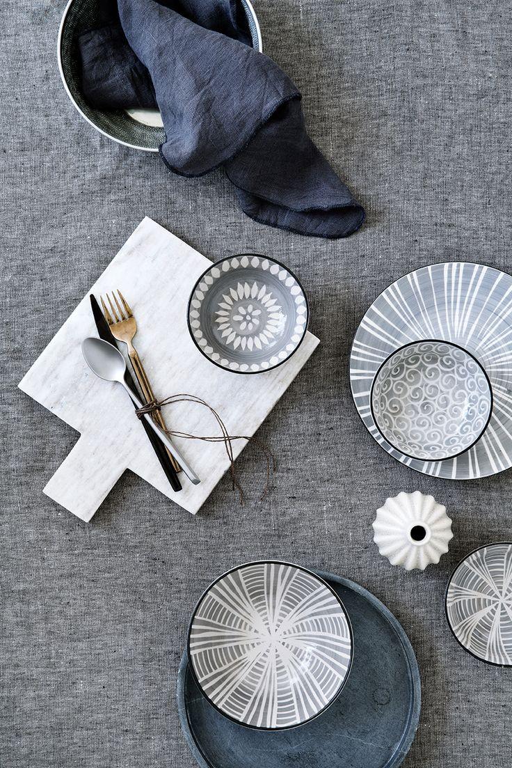 Broste Copenhagen S/S15 Styling: Marie Graunbøl Photo: Line Thit Klein #brostecph #interior #homedecor #stilleben #styling #home #decoration #tableware #cutlery #marble