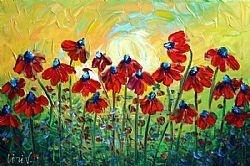 RED WILDFLOWERS      LUIZA VIZOLI