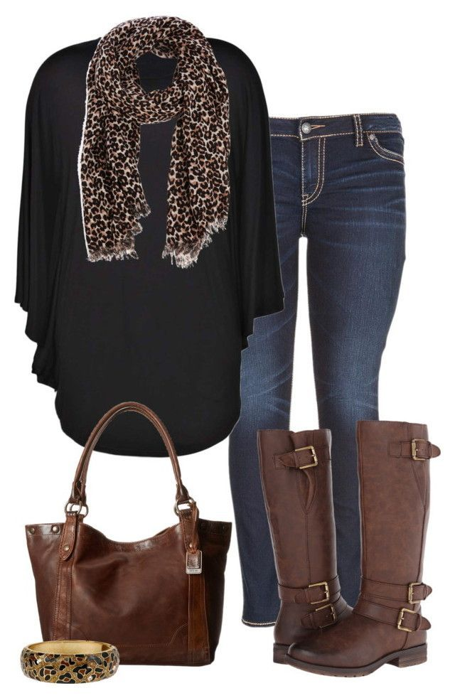 """""""Black & Brown - Plus Size"""" by kerimcd :heart: liked on Polyvore featuring maurices, Boohoo, Naturalizer, Warehouse, Frye and Betsey Johnson"""