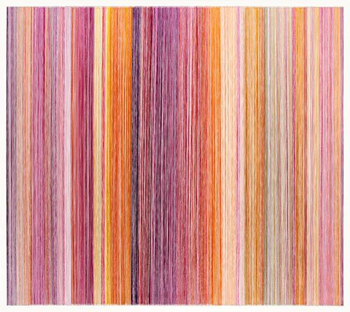 parallel 26 yellow Artist Anne Lindberg creates abstract drawings and…