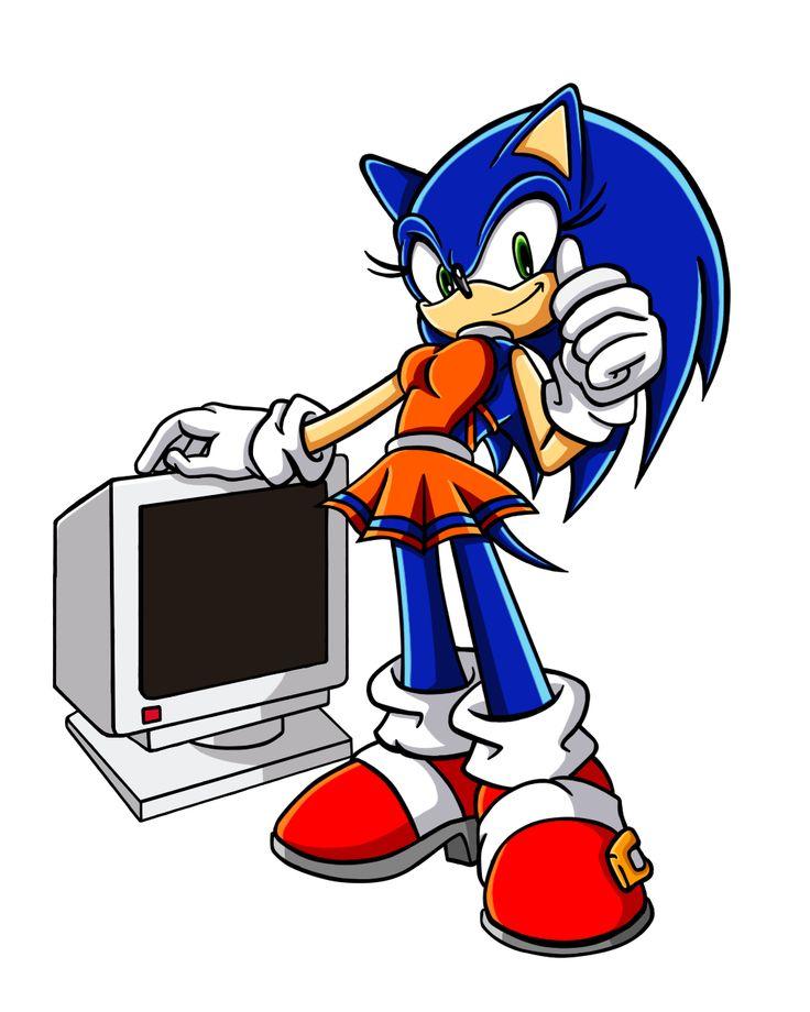 Sonic the Hedgehog Gender Bender by Sorikku za Hejjihoggu.  Soric the Hedgehog [SG_PCMonitor]