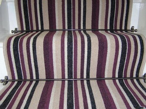 stripy stair carpet