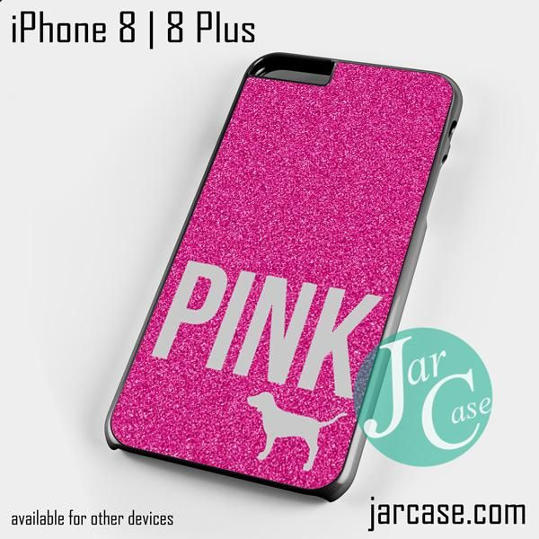 Pink Glitter Original Victoria's Secret Phone case for iPhone 8 | 8 Plus