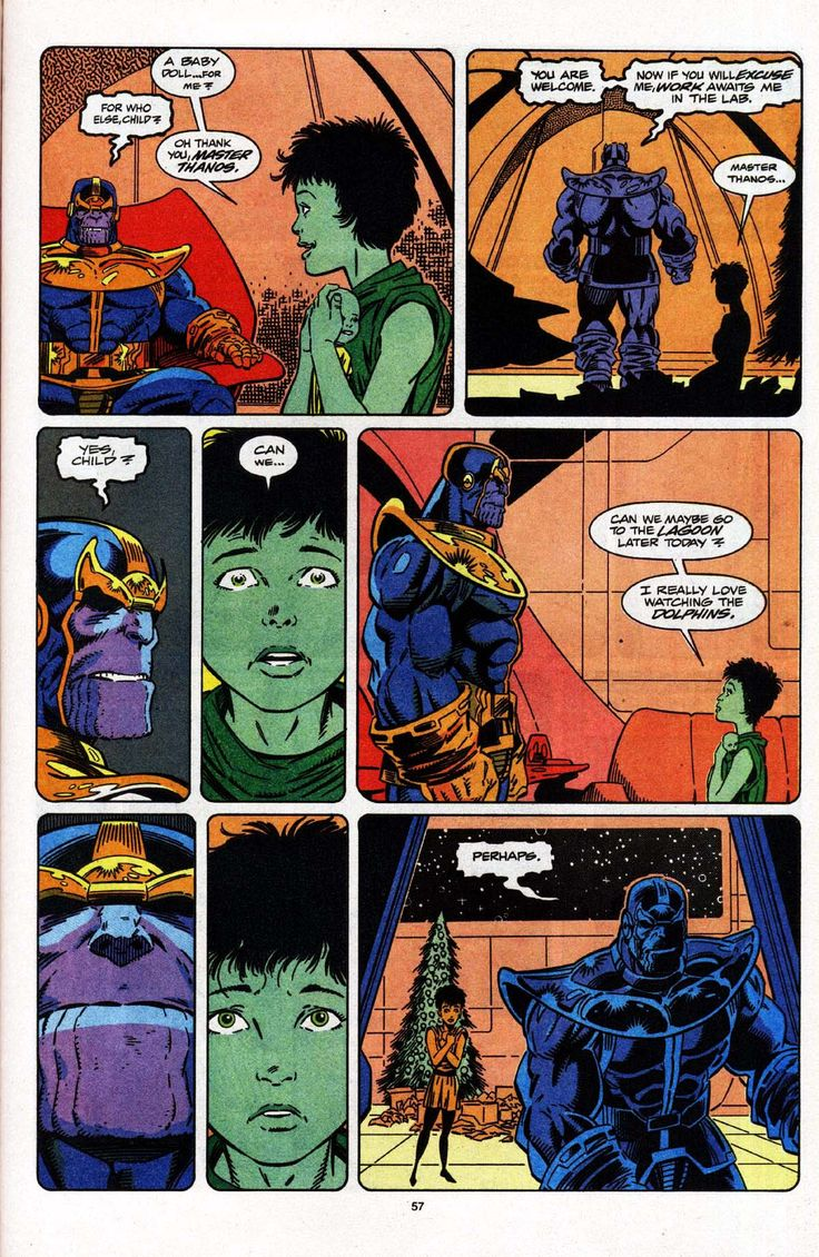 """Yule Memory"" originally presented in Marvel Holiday Special 1992 by Jim Starlin, Ron Lim, Terry Austin, Brad Joyce and Tom Vincent"
