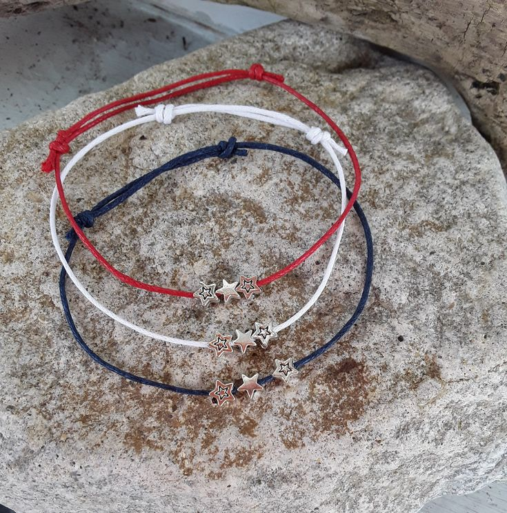 Silver Star Charm Bracelet~Wish Bracelet~Tibetan Silver~Yoga Bracelet~Yoga Jewellery~Cord Bracelet~Beach Jewellery~Friendship Bracelet by LouLaBelleG on Etsy