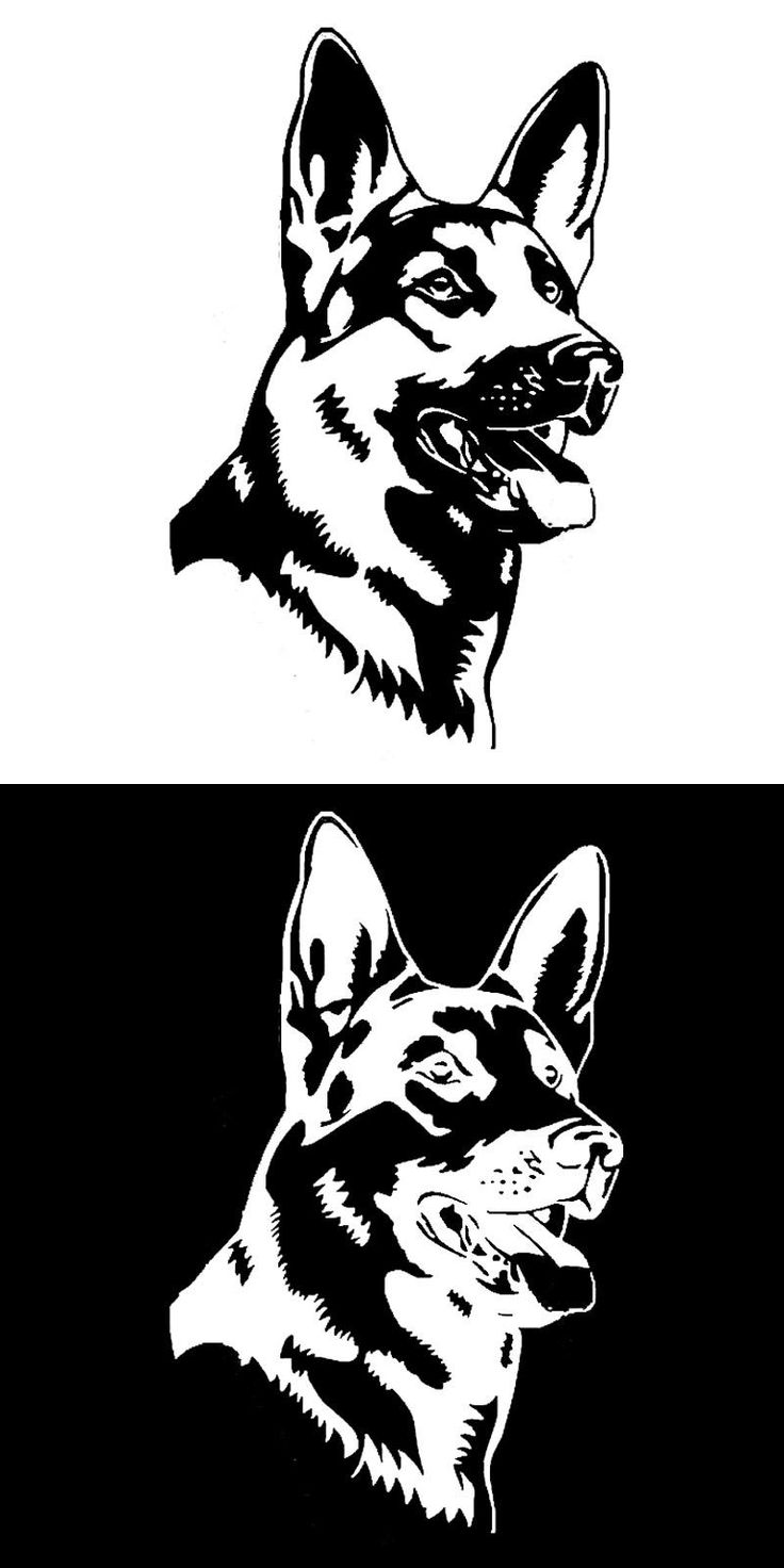 [Visit to Buy] German Shepherd Alsation Dog Car Stickers Personality Vinyl Decal Car Styling Truck Accessories Black/Silver #Advertisement
