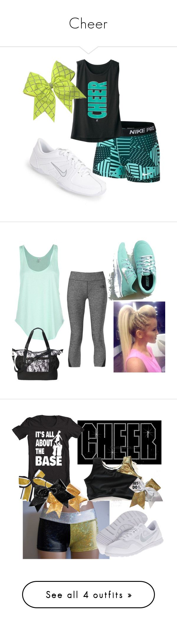 """""""Cheer"""" by kirstengraceanne ❤ liked on Polyvore featuring NIKE, Rip Curl, The North Face, Victoria's Secret, Chassè and adidas"""